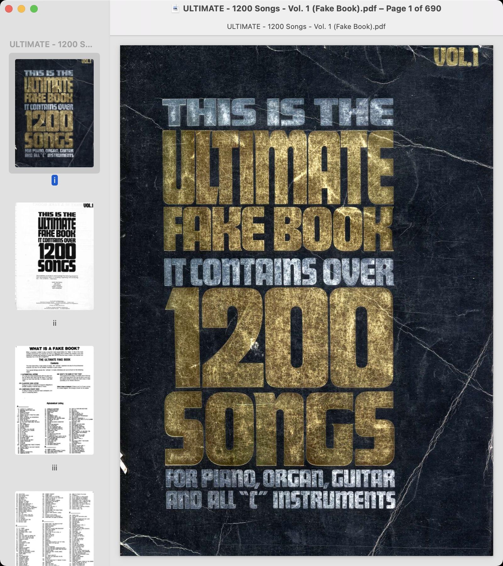 ULTIMATE - 1200 Songs - Vol. 1 (Fake Book).jpg