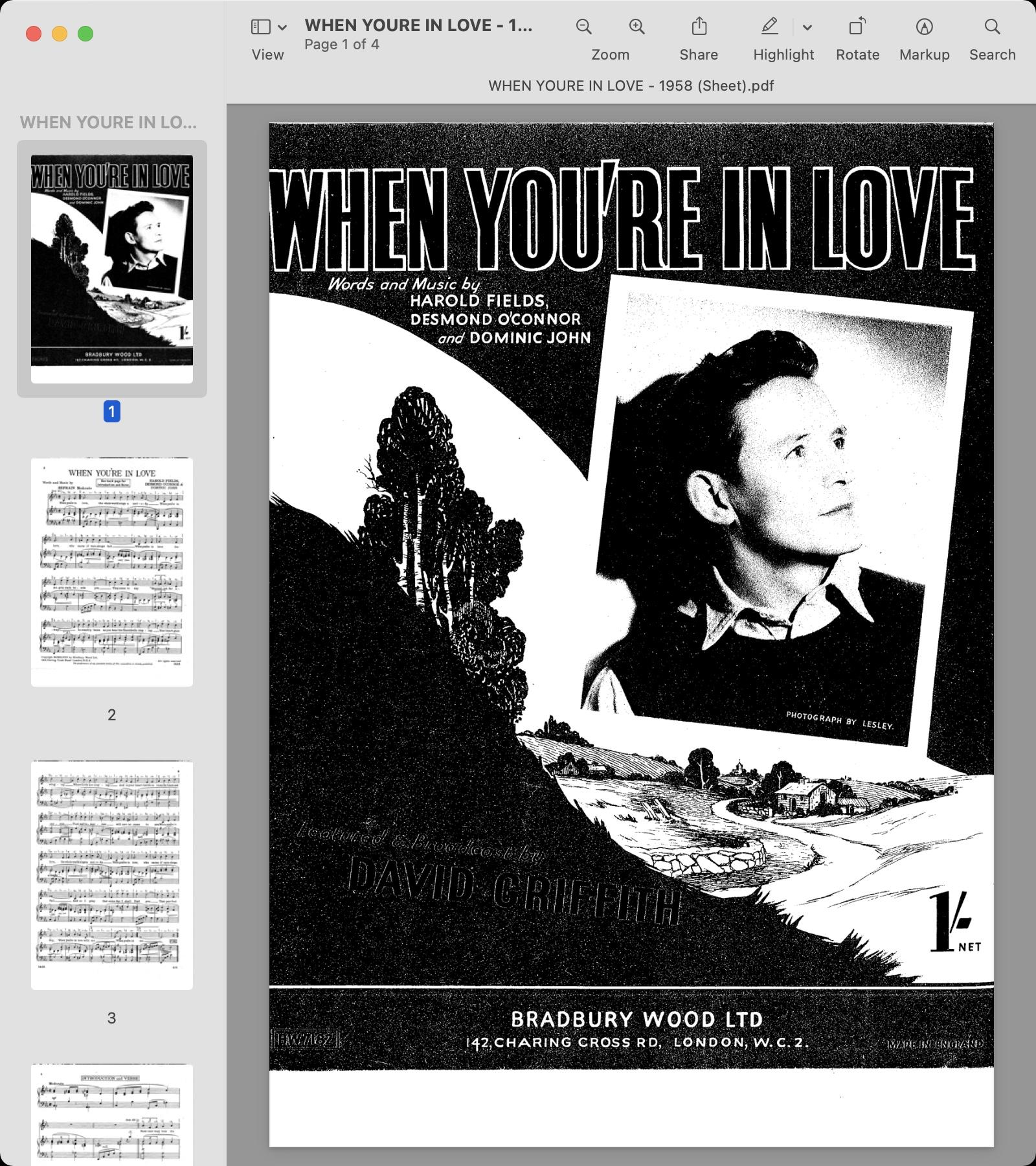 WHEN YOURE IN LOVE - 1958 (Sheet).jpg