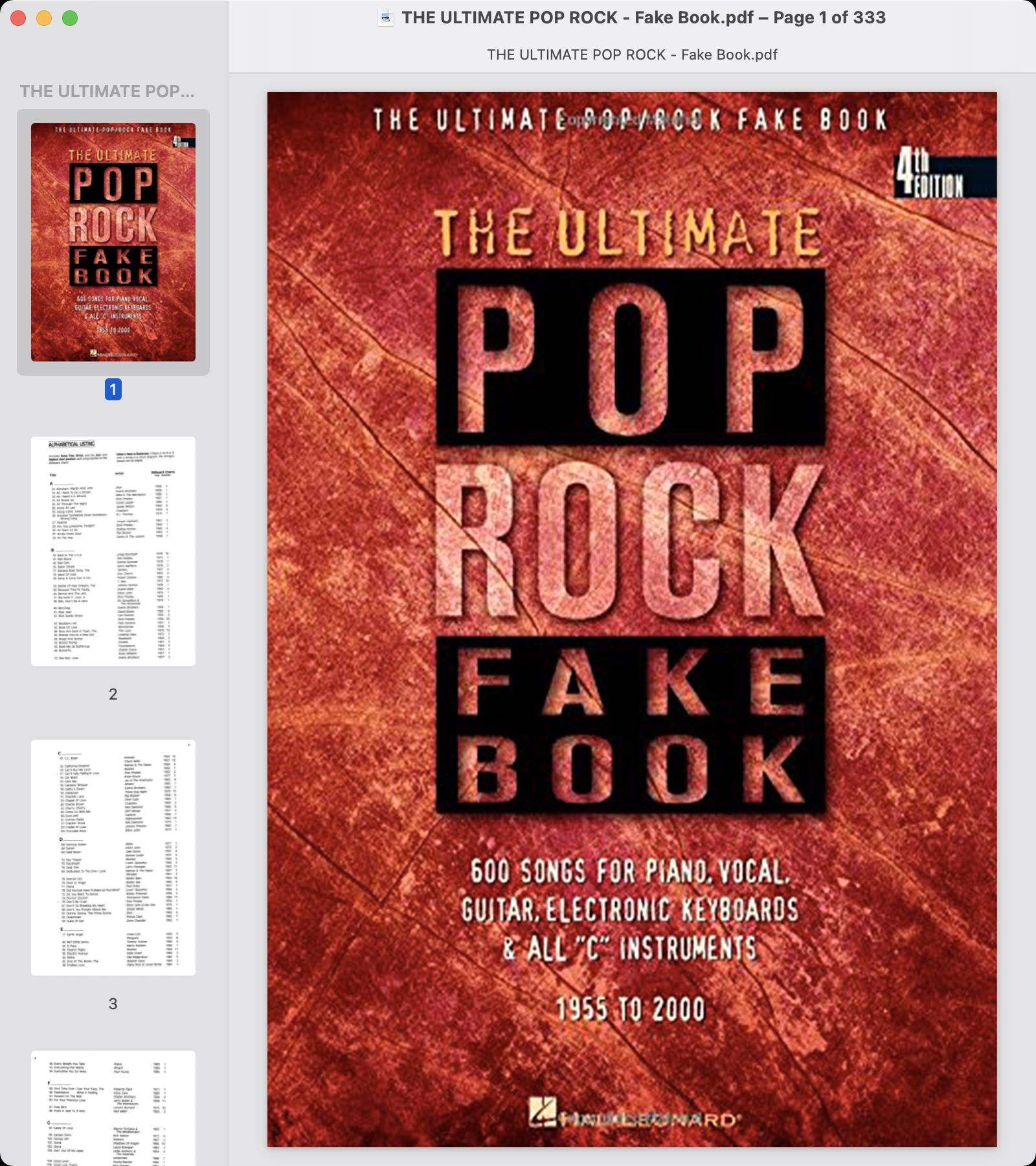 THE ULTIMATE POP ROCK - Fake Book.jpg